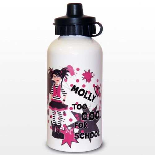 Personalised Too Cool Girl Drinks Bottle